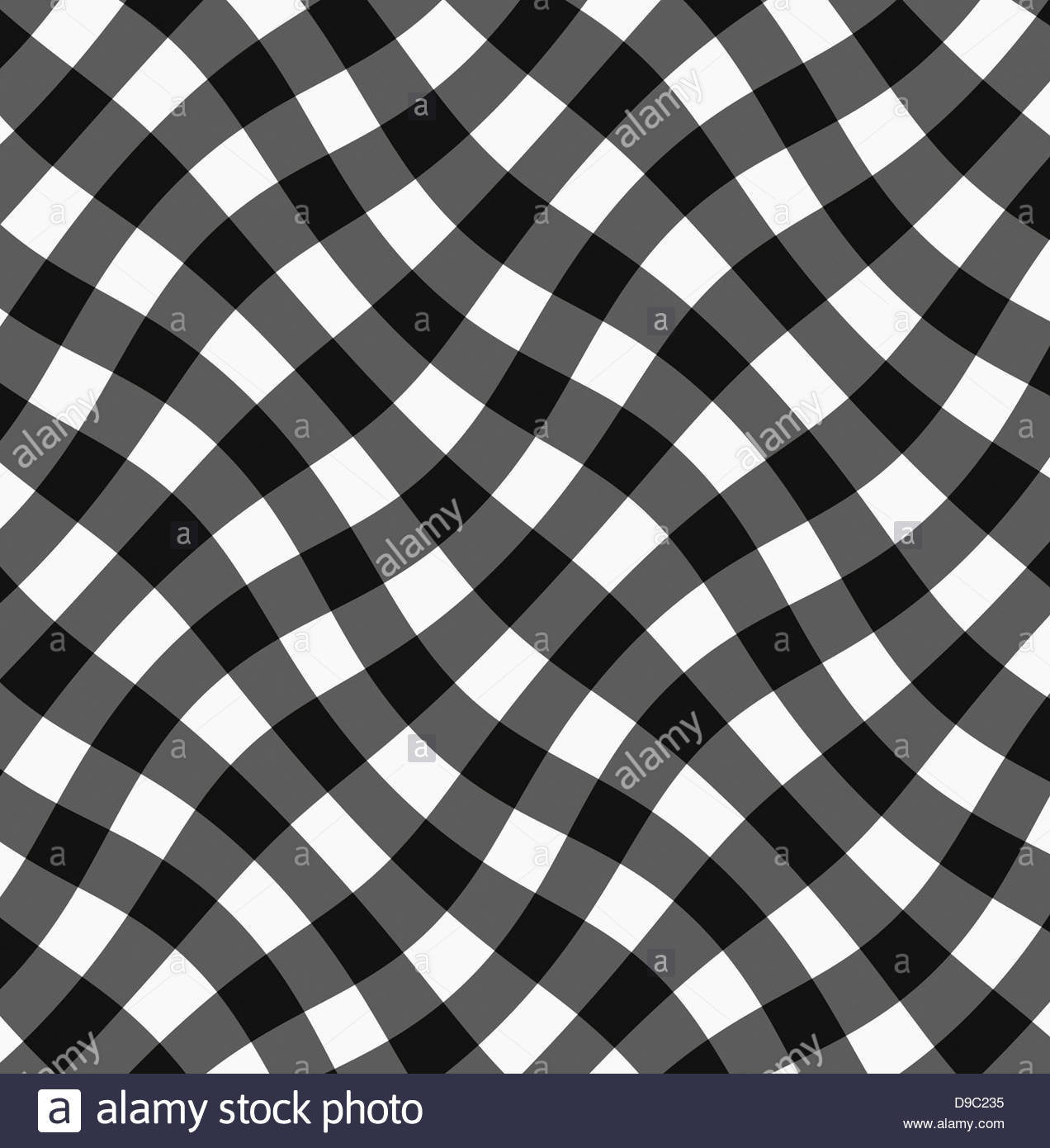 Digital composite background, black gingham, check, checked, checks, - Stock Image