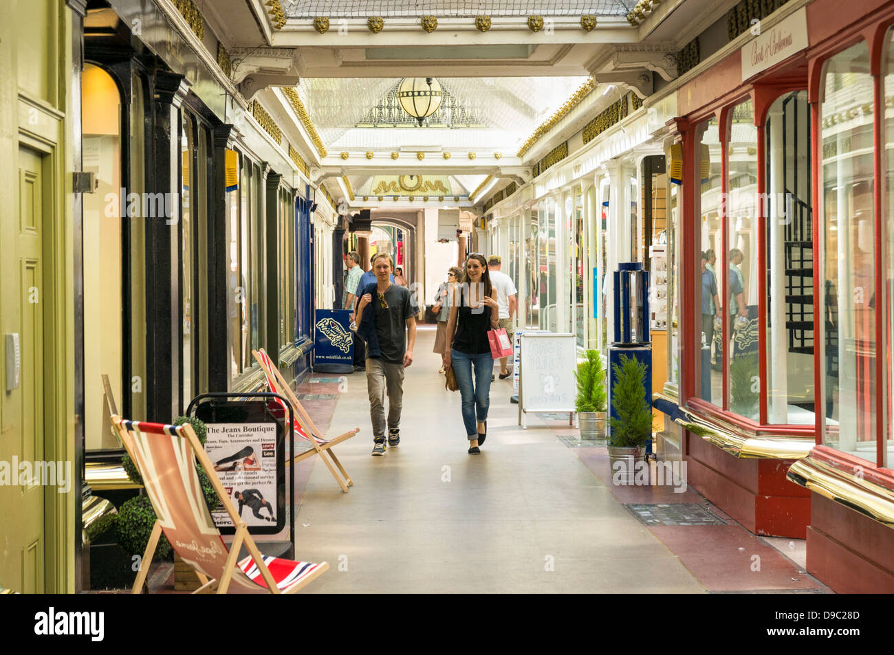 The Corridor Arcade in Bath, England, UK - Stock Image