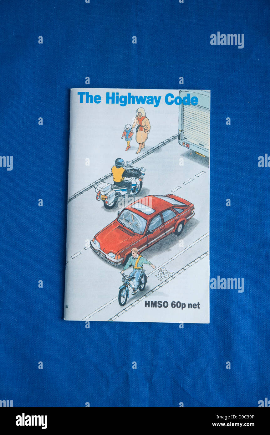 An out of date, retro, HMSO booklet of The Highway Code. UK. - Stock Image