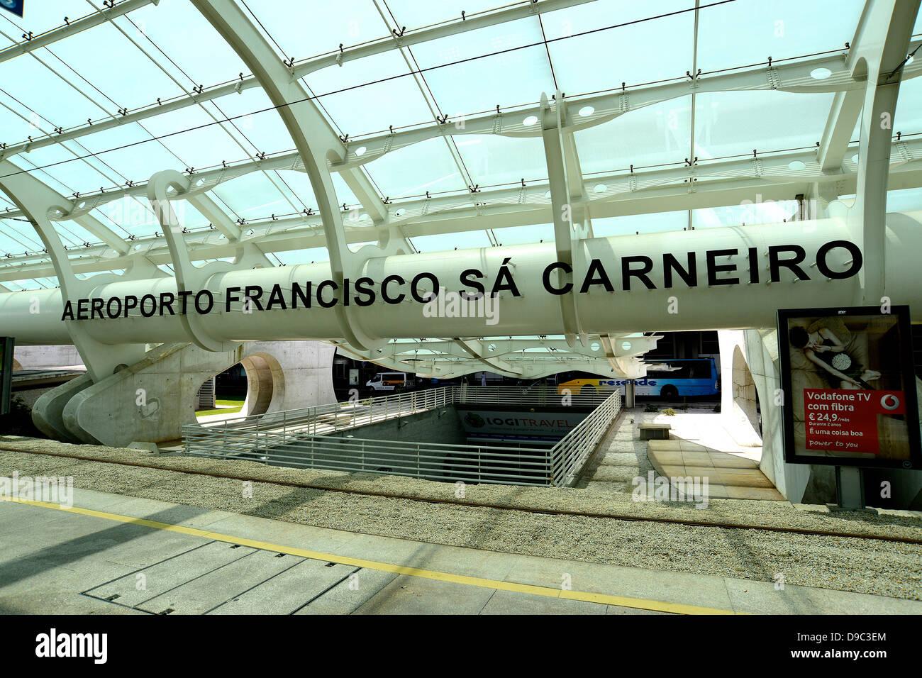 Francisco Sa Carneiro international airport Porto Portugal - Stock Image