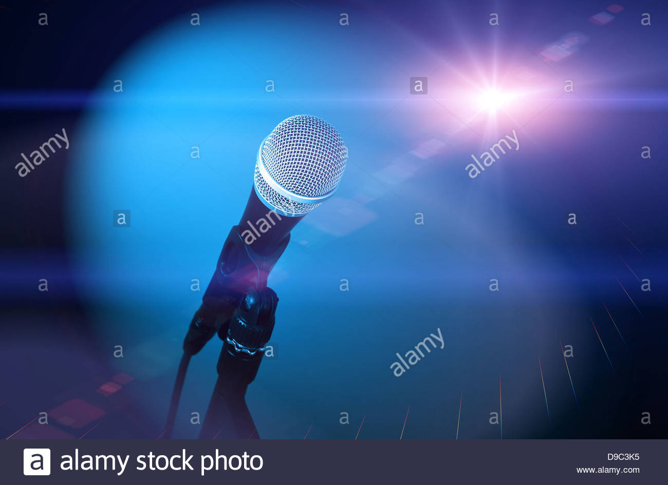 microphone starlight Stock Photo