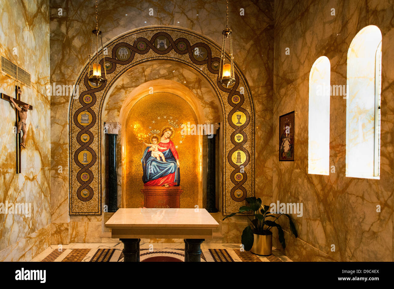 Our Lady of Pompei chapel, Basilica of the National Shrine of the Immaculate Conception, Washington, DC, USA - Stock Image