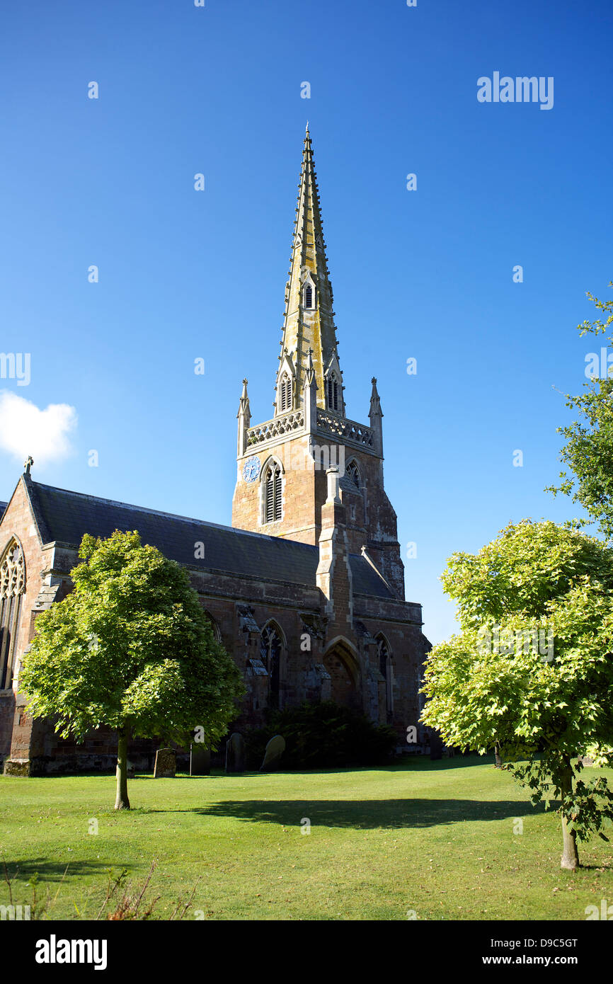 All Saints' Church Braunston village Northamptonshire Northants England UK GB rural England country life scenicStock Photo