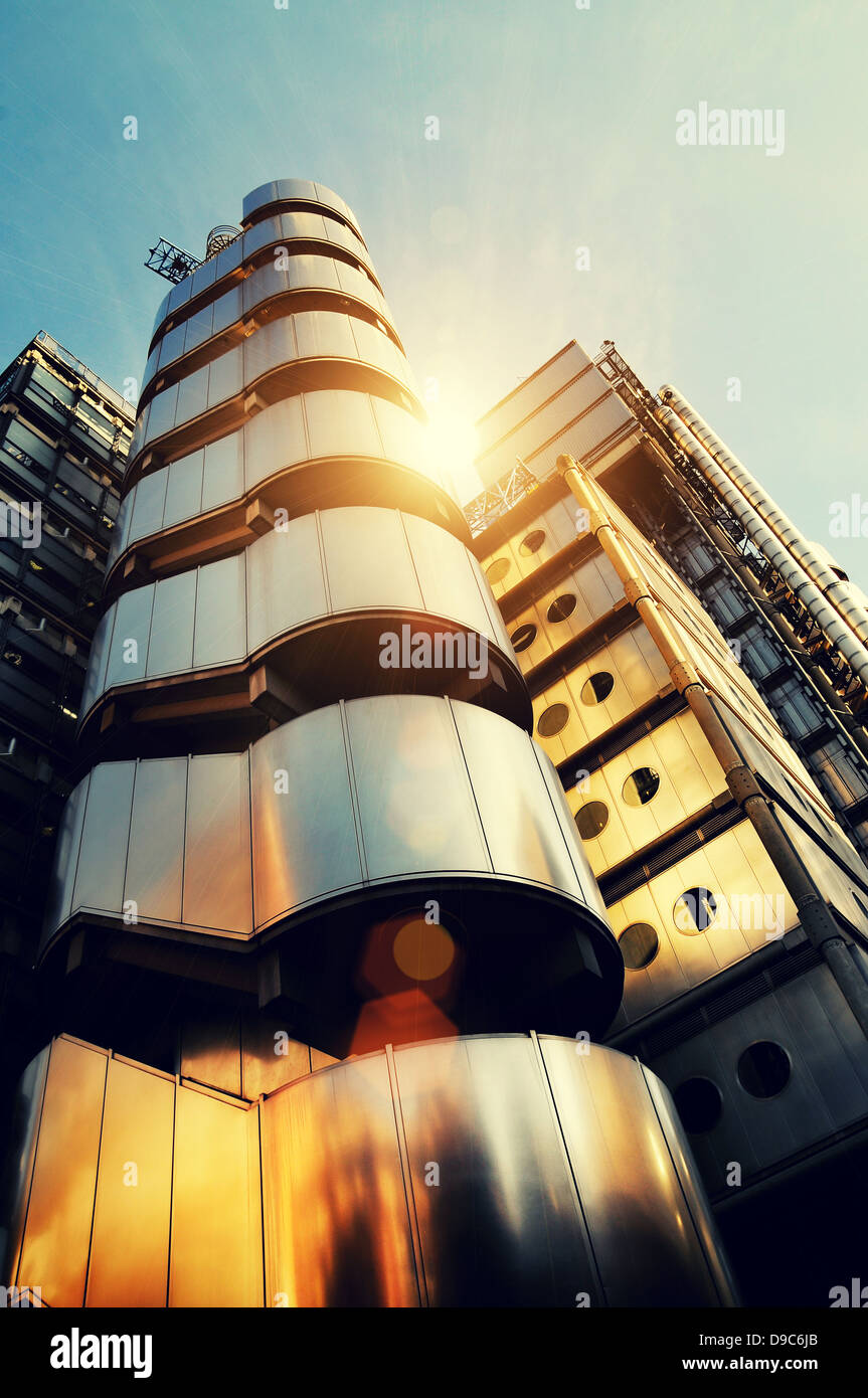 sunny architecture lloyds building - Stock Image
