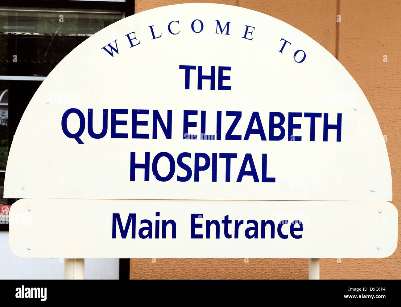 Kings Lynn, Norfolk, Queen Elizabeth Hospital NHS, Main Entrance, England, UK, English hospitals - Stock Image