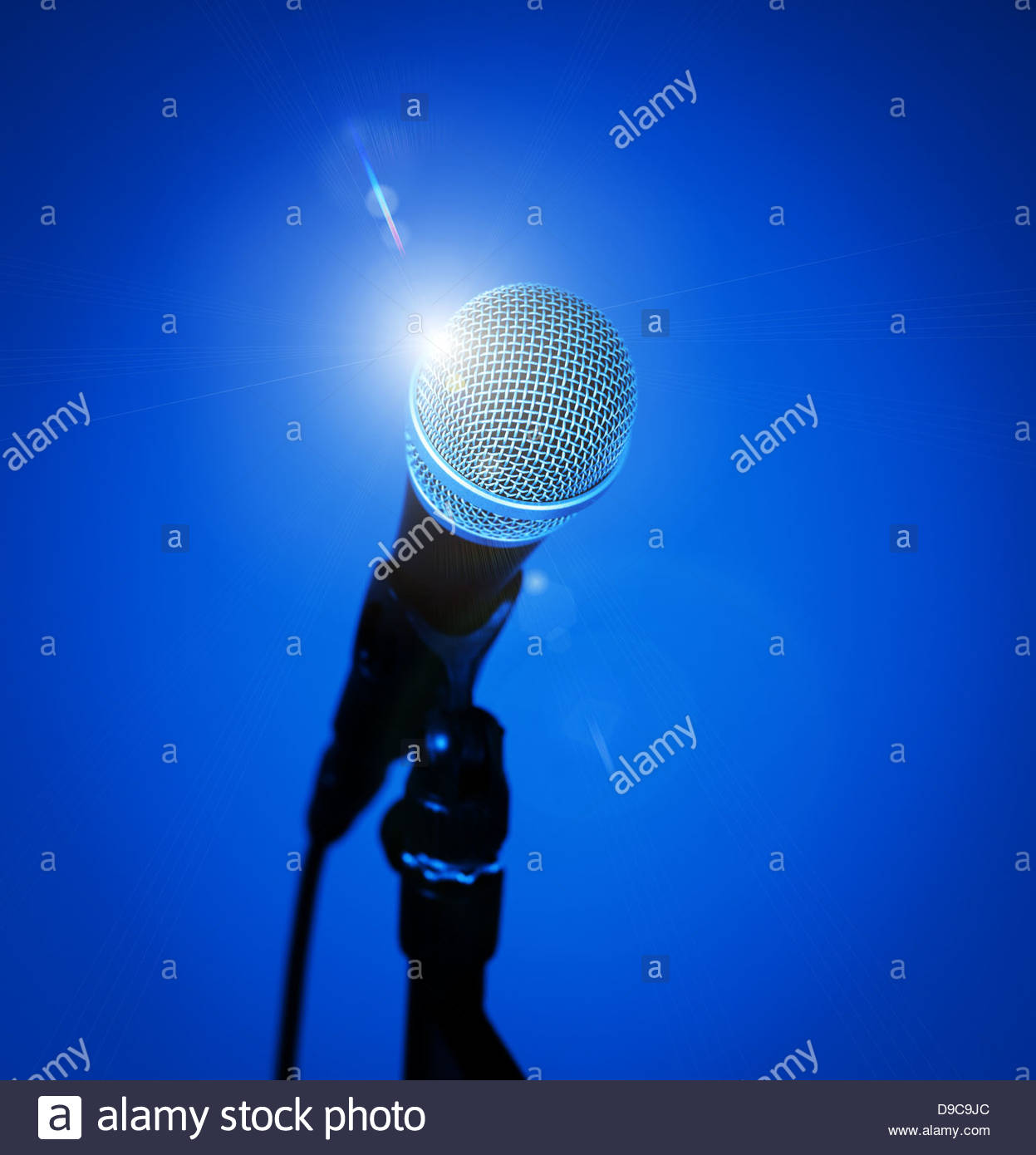 microphone starlight - Stock Image