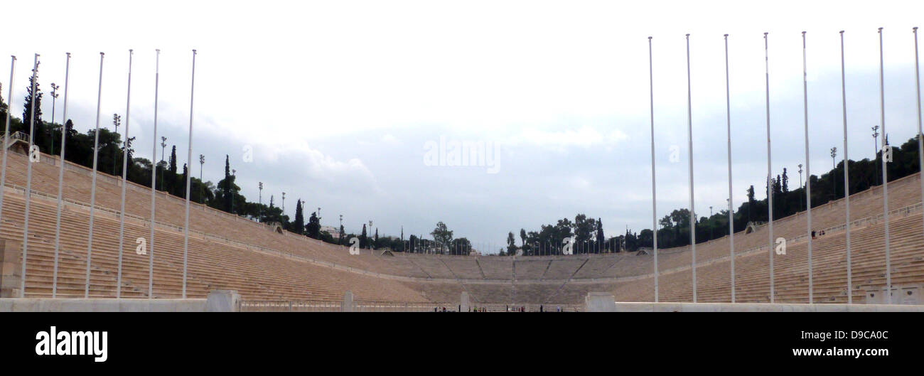 The 1896  Panathinaiko Stadium Athens, Greece, constructed for the first Olympic Games of the modern Era. - Stock Image