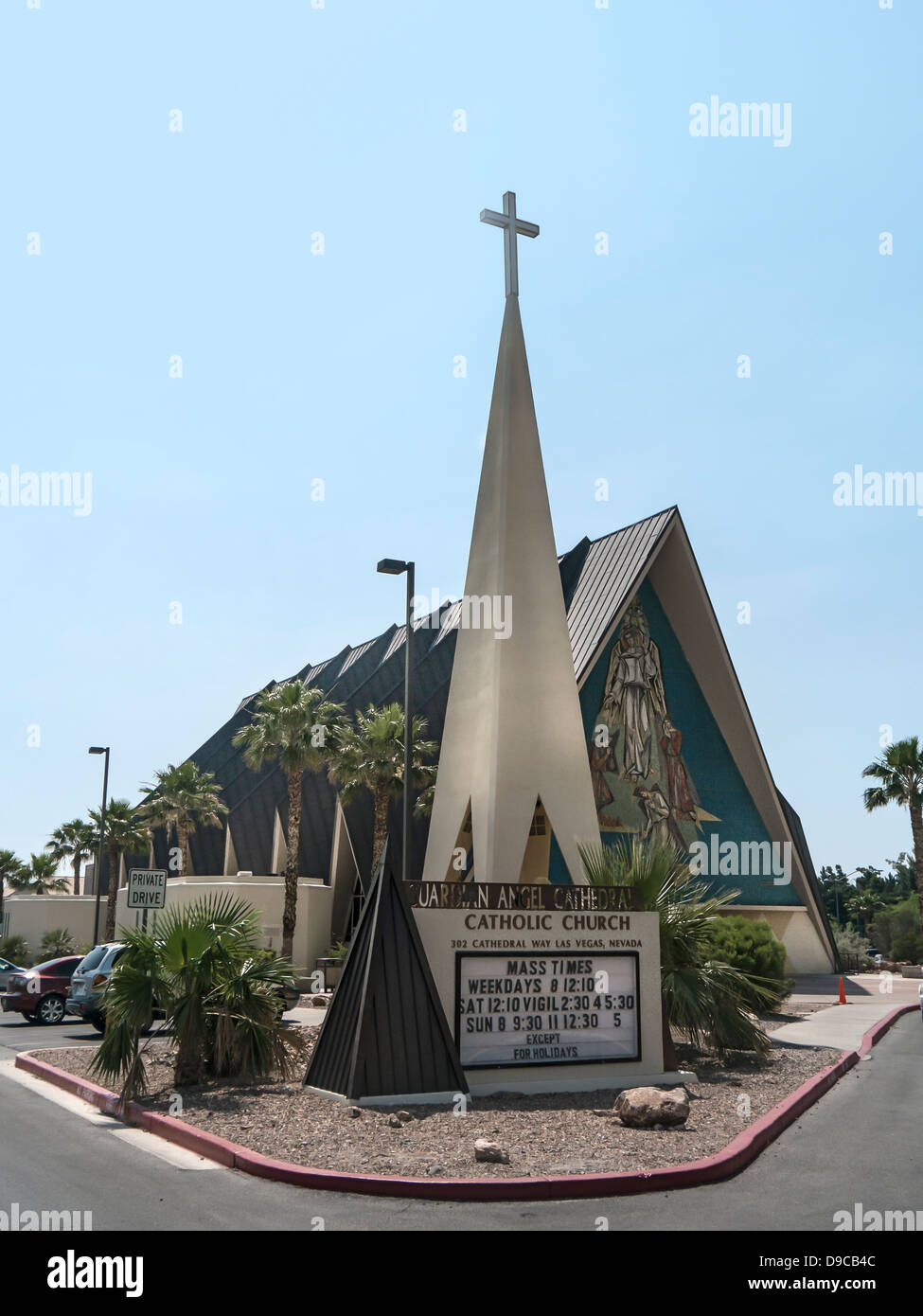Guardian Angel Cathedral Catholic Church in USA Stock Photo