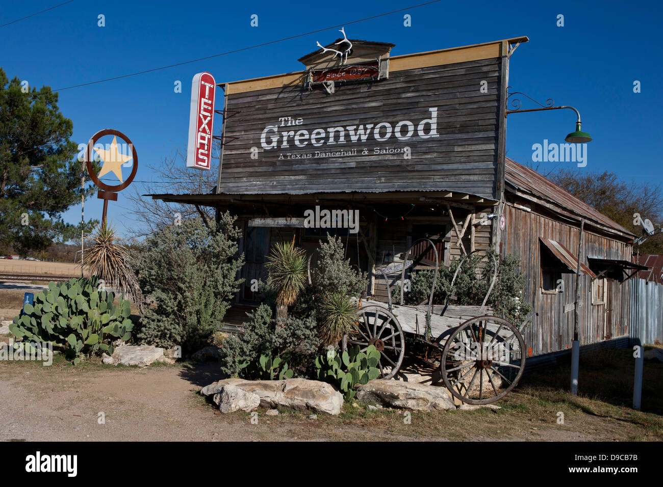 The Greenwood Dancehall and Saloon, Bluff Dale, Texas, United States of America - Stock Image