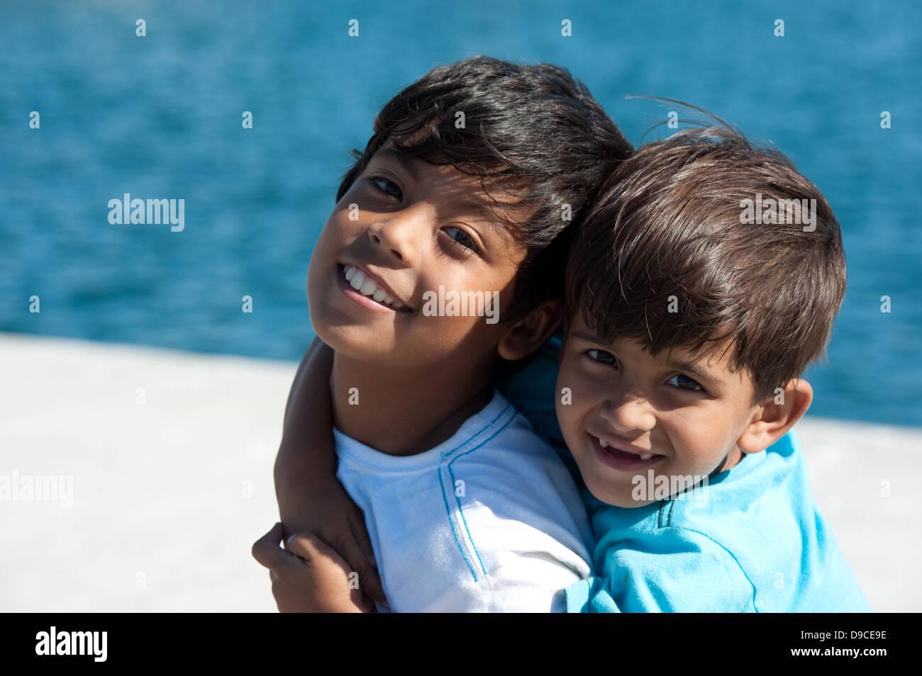 Children, Kalk Bay, False Bay, South Africa - Stock Image