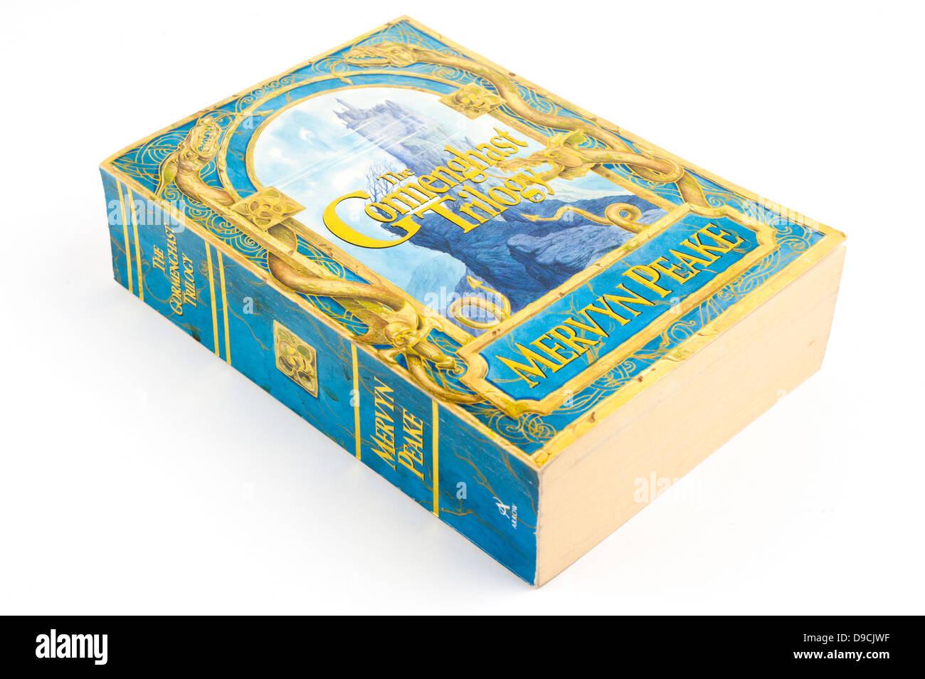 The Gormenghast Trilogy by Mervyn Peake. - Stock Image