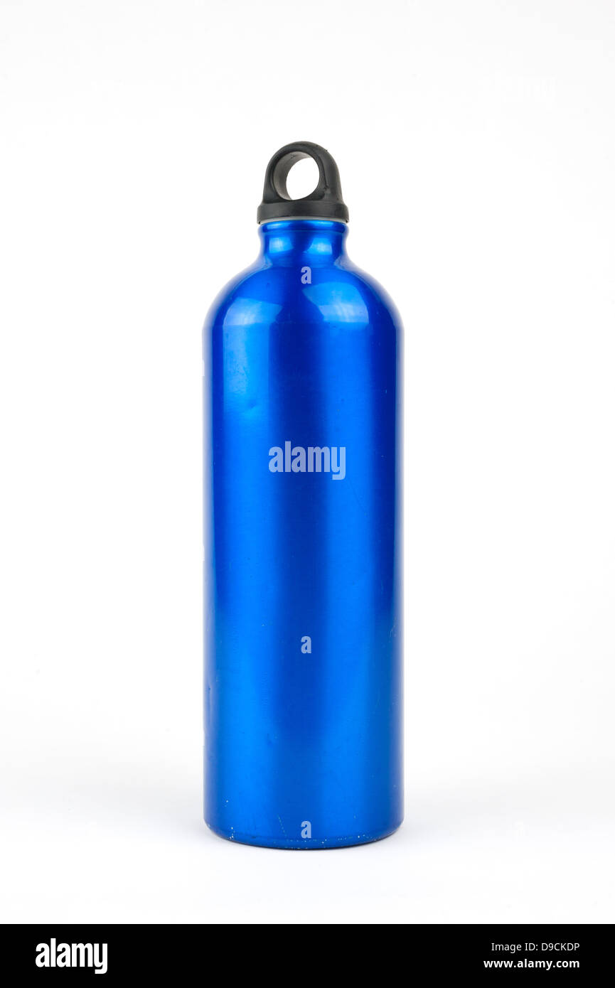 Stainless steel water bottle - Stock Image