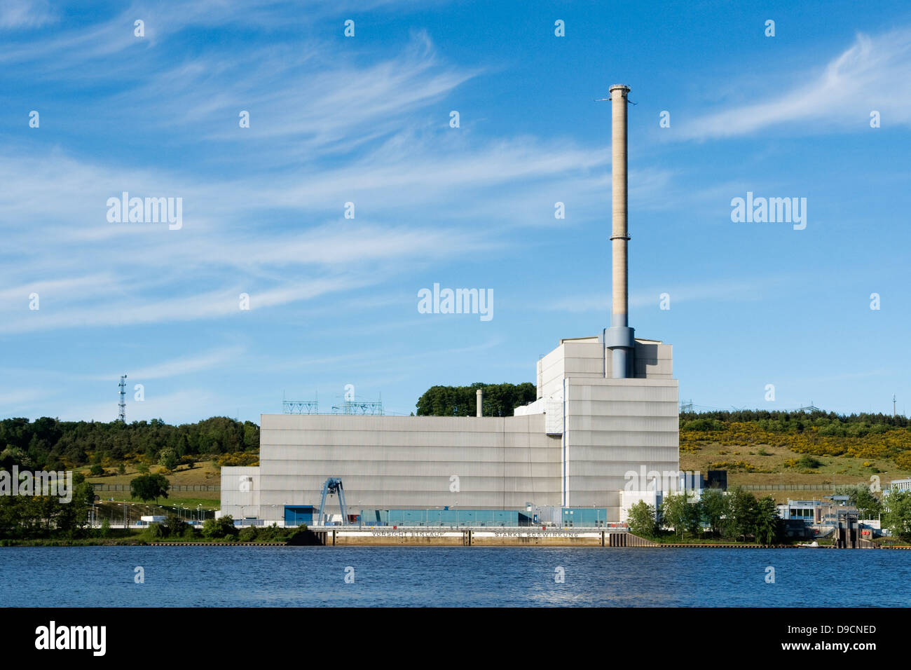 Nuclear power station Kruemmel, Nuclear power station Kruemmel, - Stock Image
