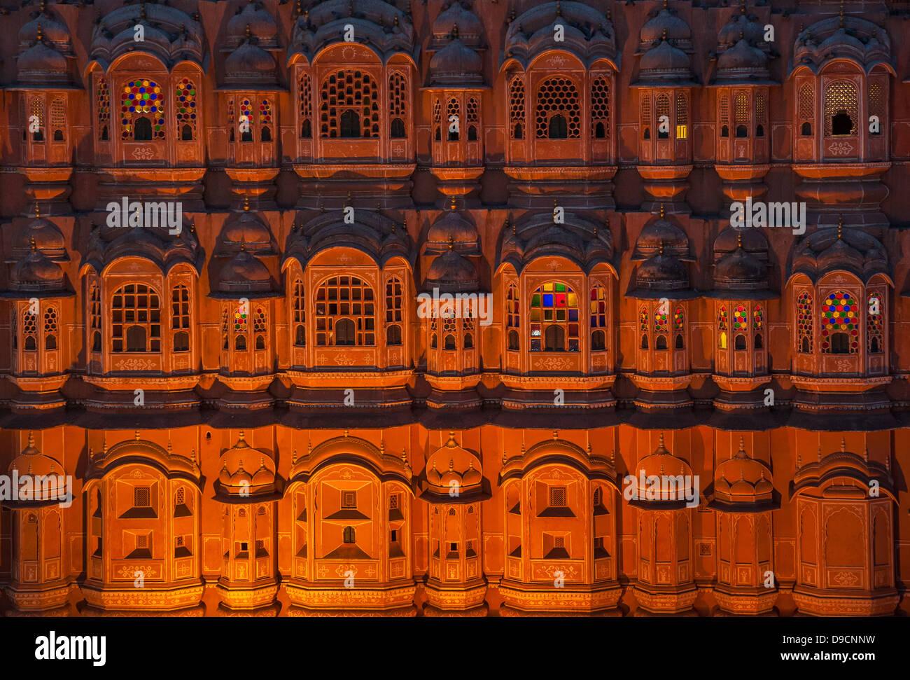 Hawa Mahal, Palace of winds, Jaipur, India - Stock Image