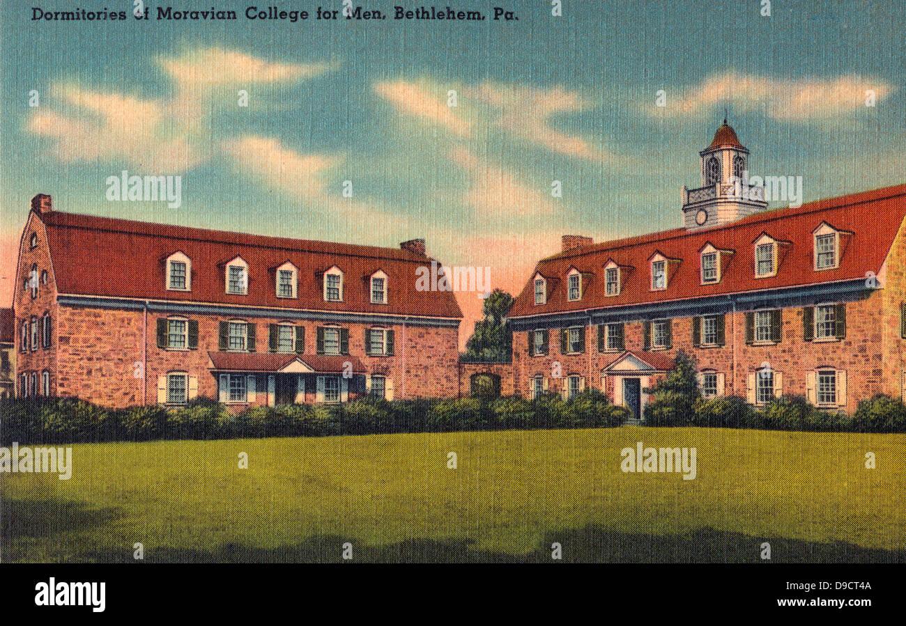 Dormitories of Moravian College for Men, Bethlehem, Pennsylvania circa 1925 - Stock Image