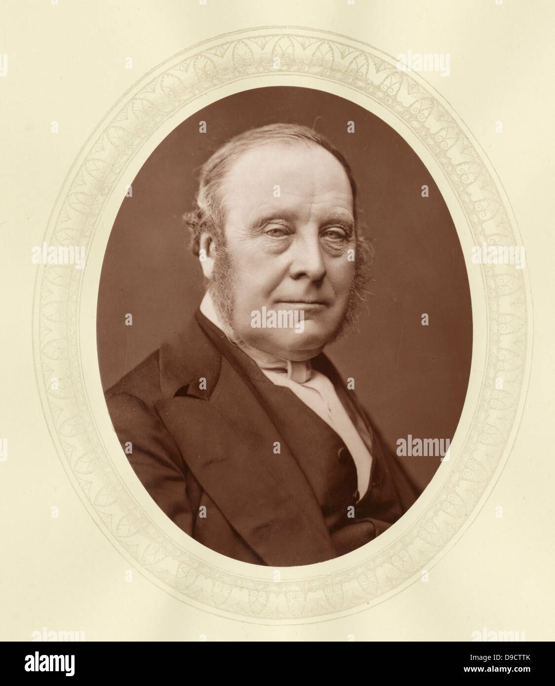 John Thomas Freeman Mitford, 1st Earl Redesdale (1805-1886) c1876, English nobleman, Chairman of Committees of the - Stock Image