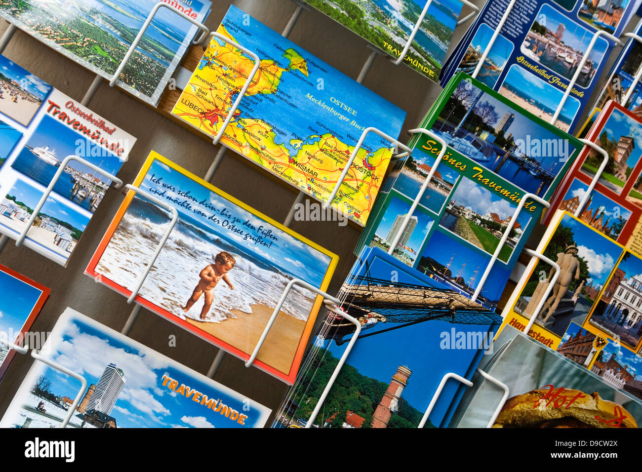 Postcards in a souvenir state - Stock Image