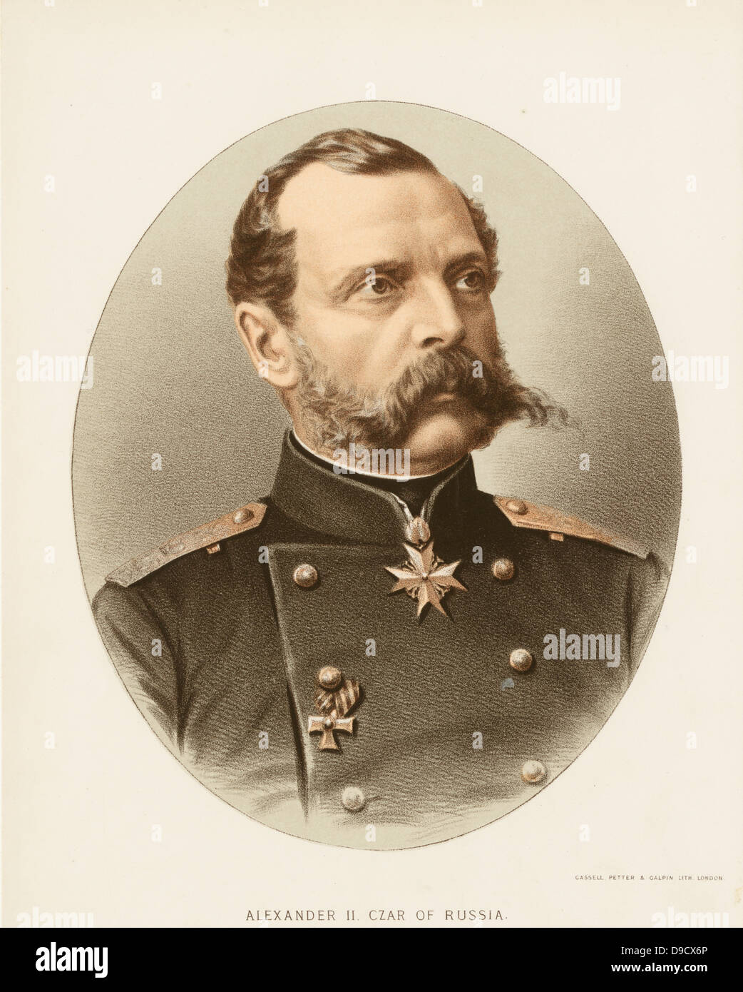Alexander II (1818-1881) Tsar of the Russian empire from 1855 until his assassination in St Petersburg. Known as - Stock Image