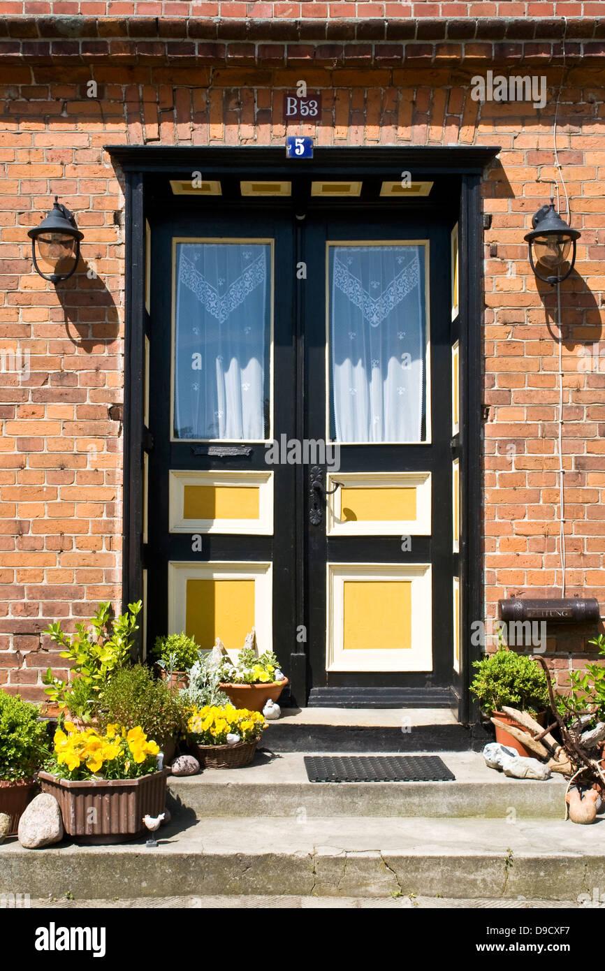 Old front door in Wustrow Stock Photo