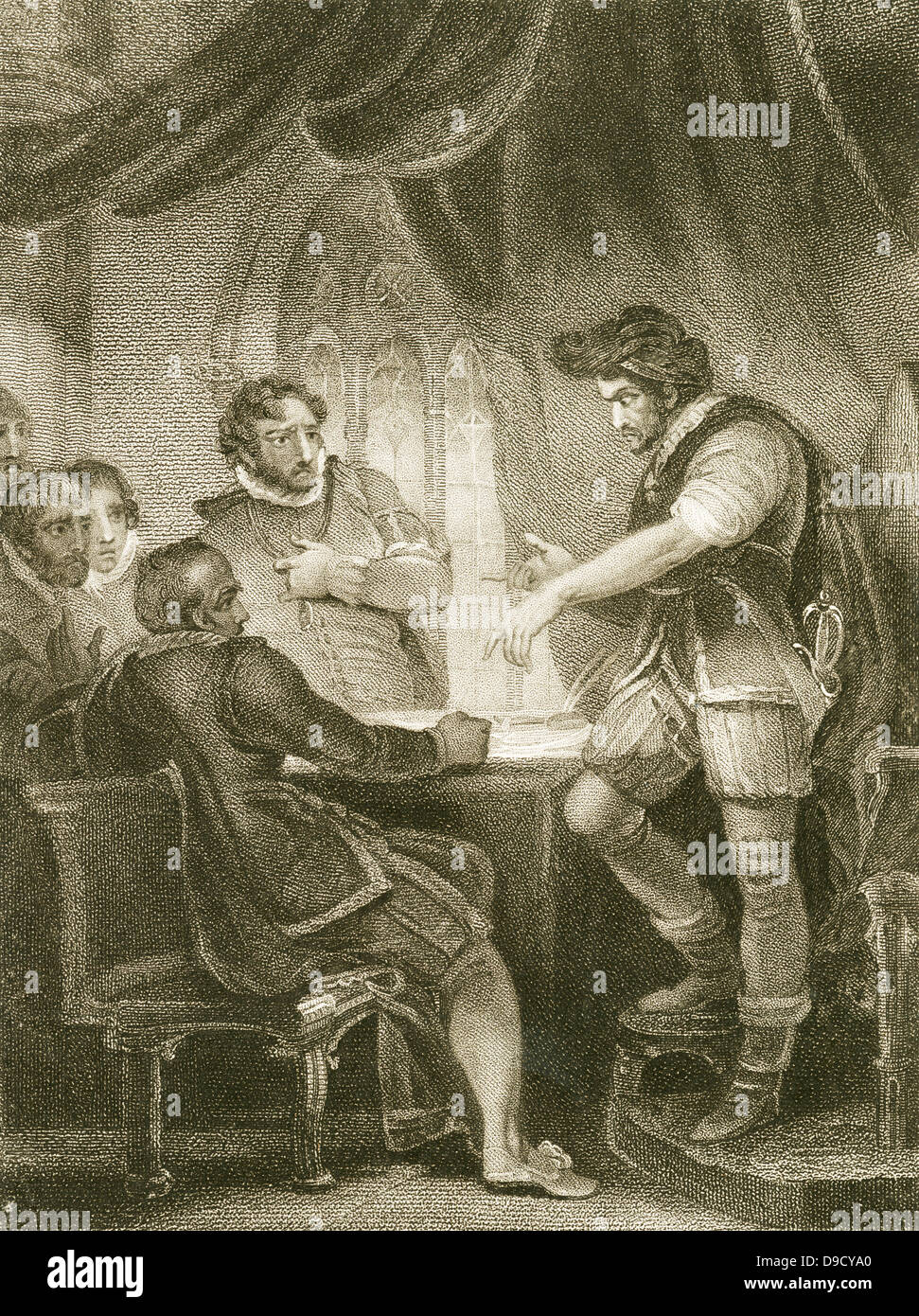 William, Baron Hastings (1430?-1483) accused of witchcraft and executed by Richard III of England. The real motive - Stock Image
