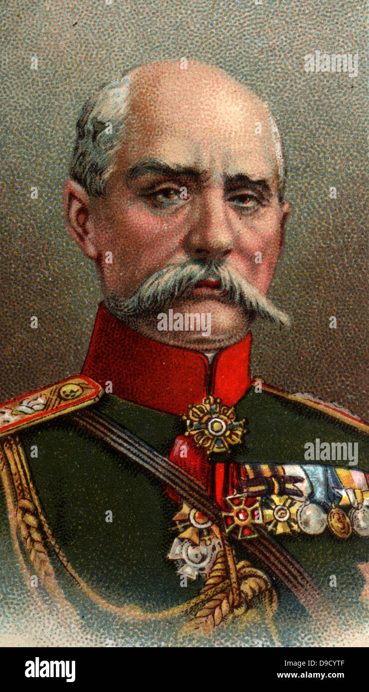 General Platon Lechitsky (1856-1921) Russian soldier. Commanded the Russian 9th Army Corps during the First World - Stock Image