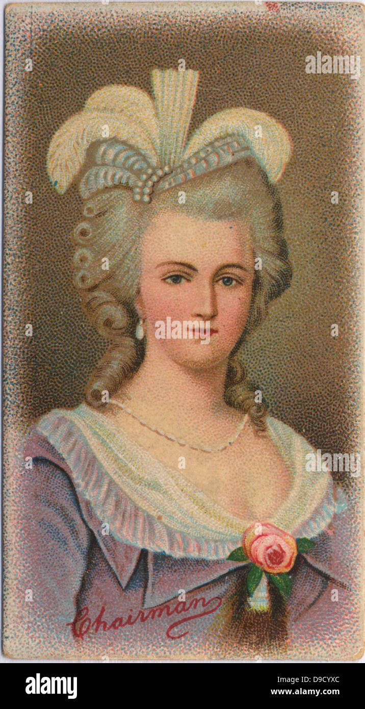 Marie Antoinette (1755-1793)  Queen of France, wife of Louis XVI. Daughter of Empress Maria Theresa and Emperor - Stock Image
