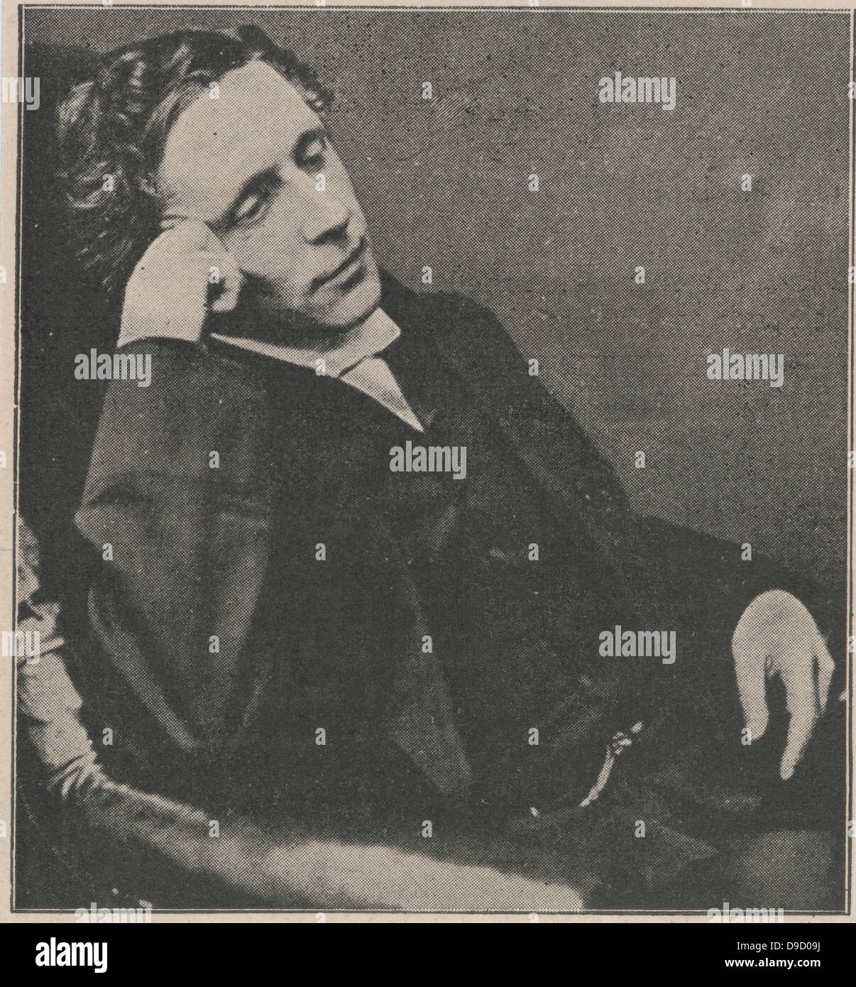 Lewis Carroll, pseudonym of Charles Lutwidge Dodgson (1832-1898) English mathematician, logician, author of the - Stock Image