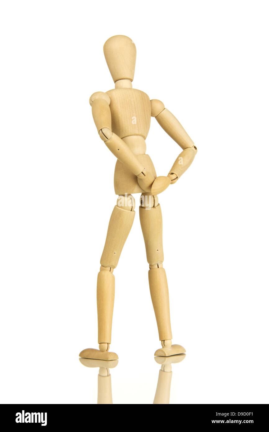 Limb doll with back pains Jointed really with bake pain - Stock Image