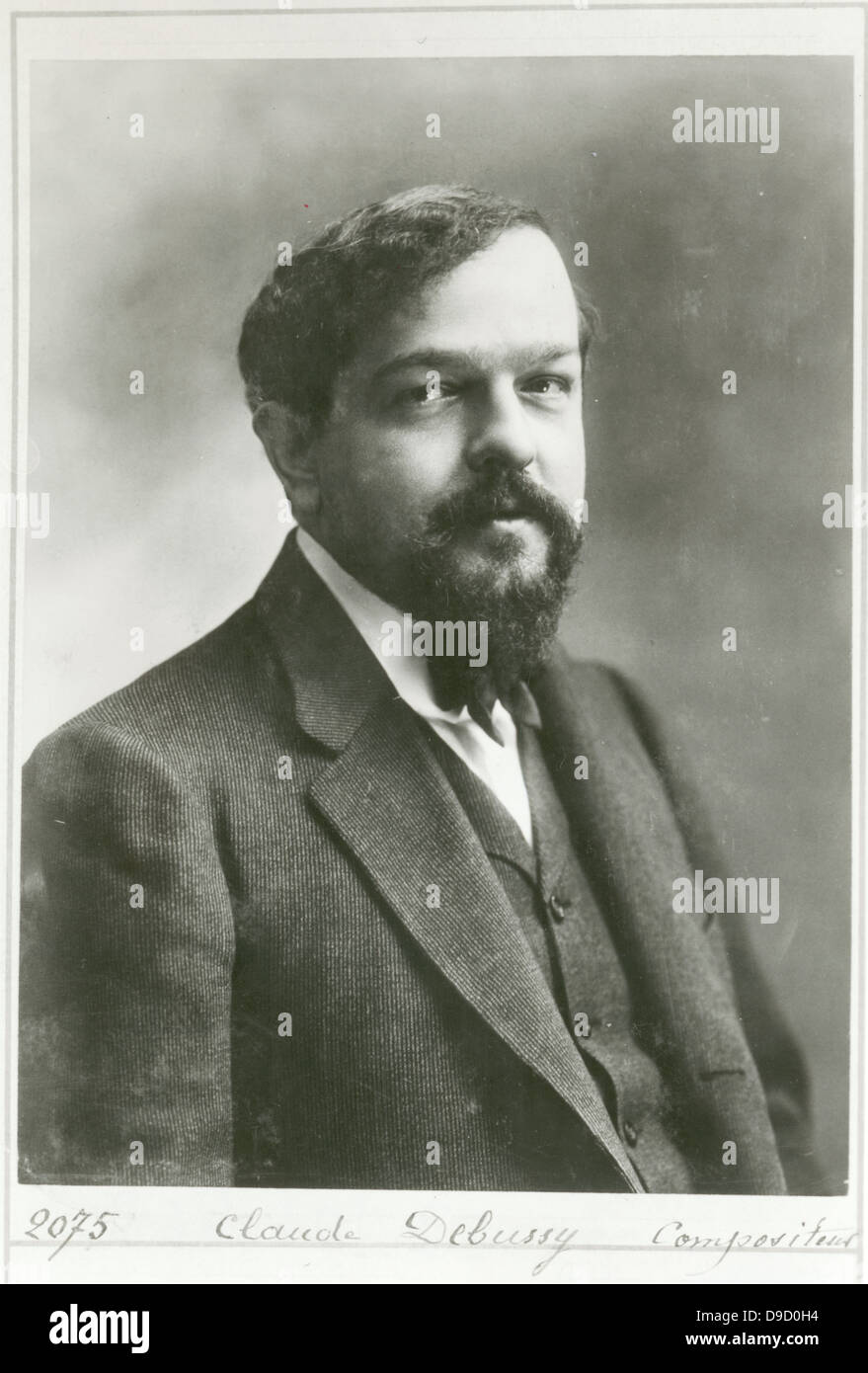 Claude Achille Debussy (1862-1918) French composer c1908. Influential in the transition into the modern era of Western - Stock Image