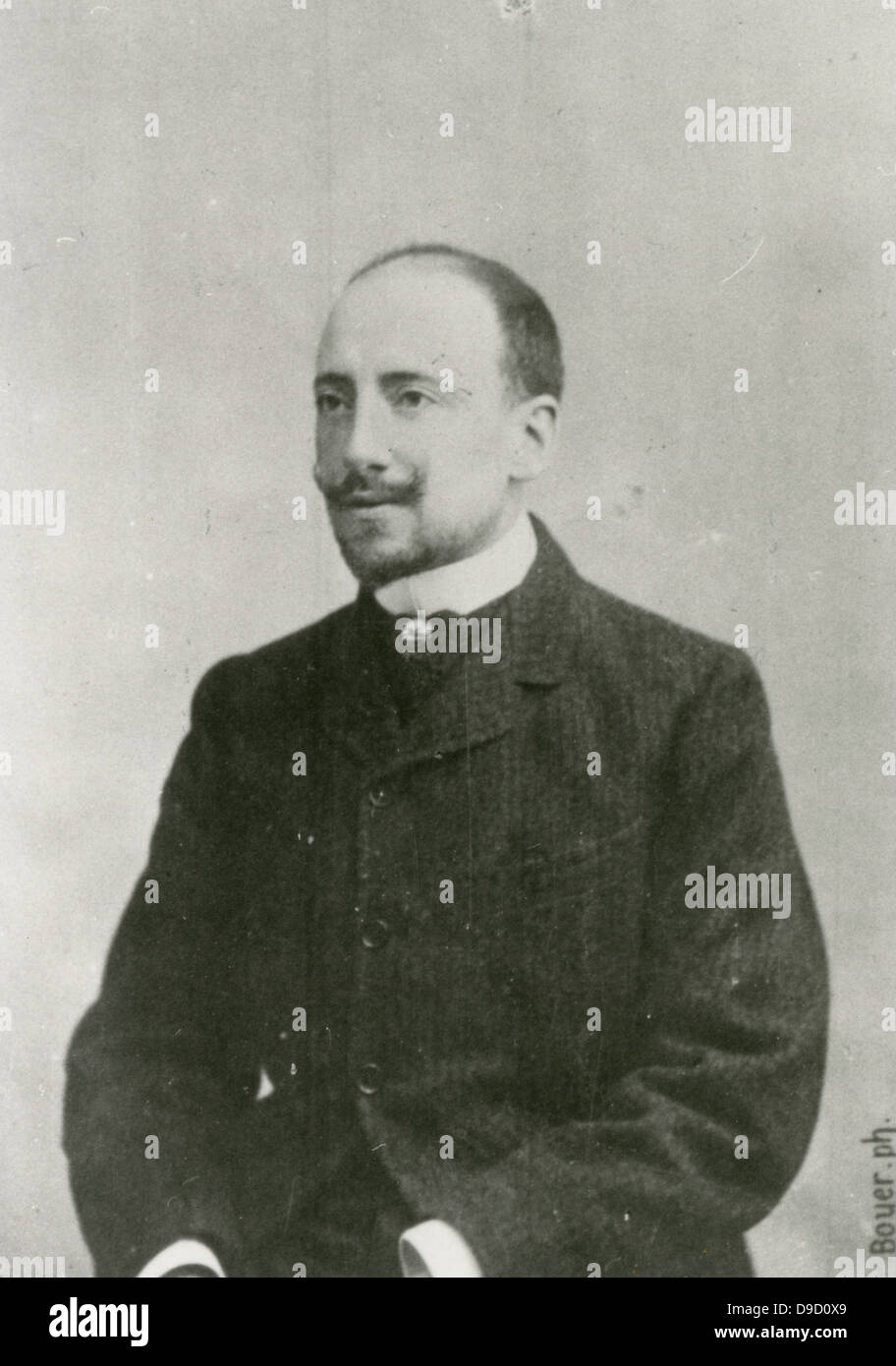 Gabriele DAnnunzio (1863-1938) Italian poet, dramatist, novelist and journalist. An ultra-nationalist, his ideas - Stock Image