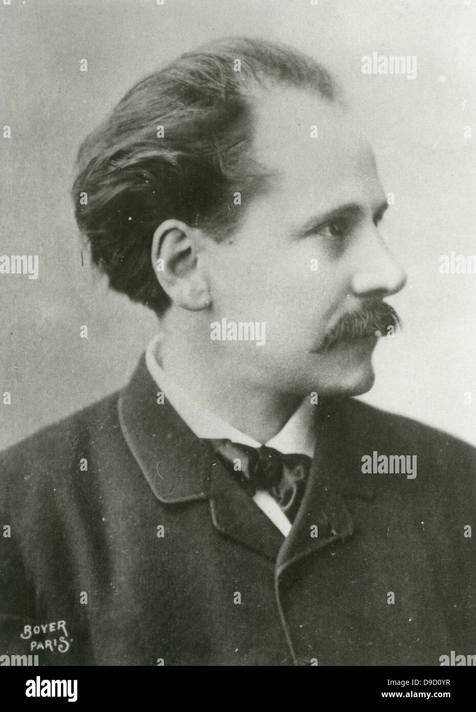 Jules Massenet (1842-1912) at the piano.  French composer best remembered for his operas. - Stock Image