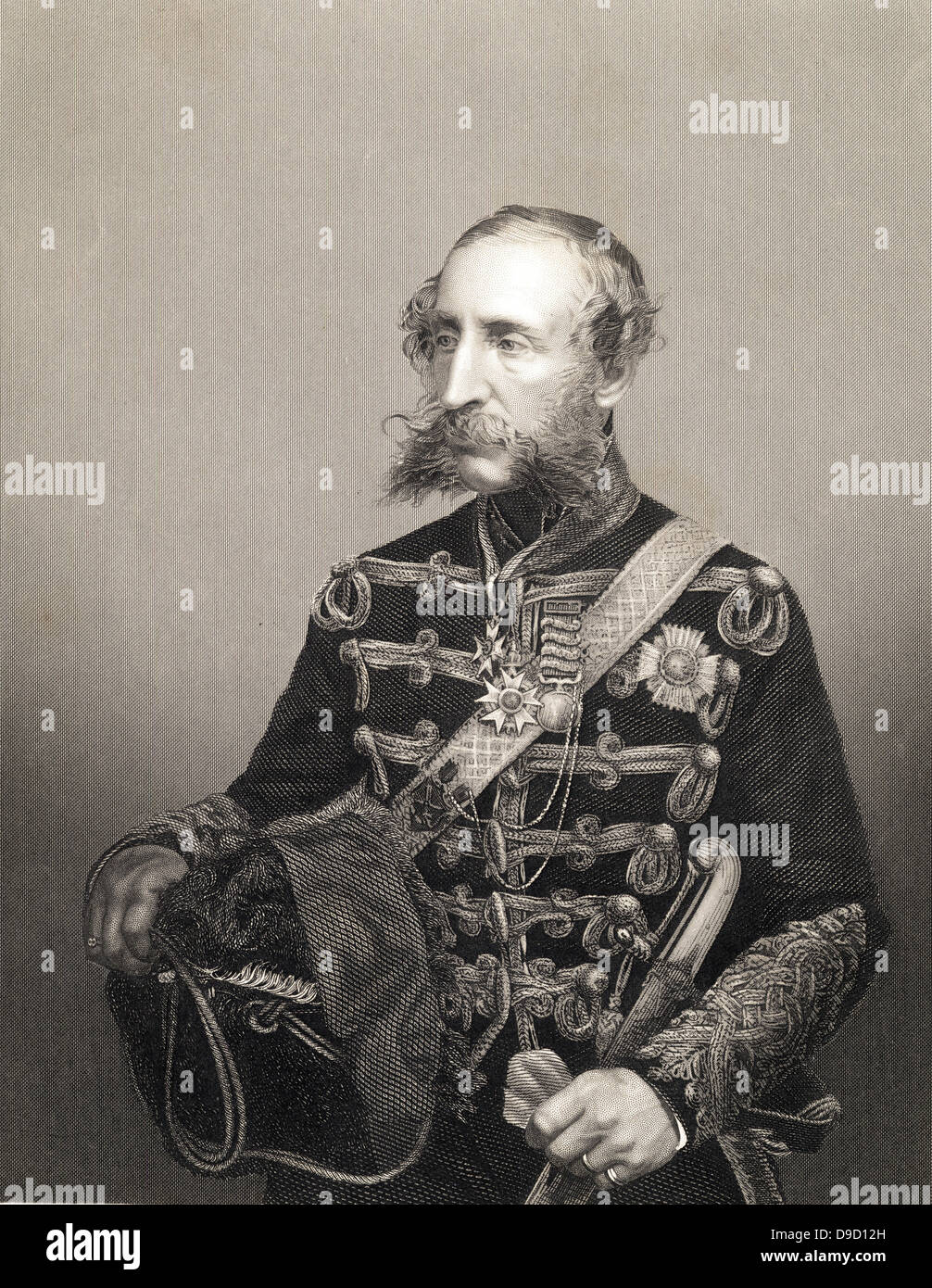 Lieut-General James Brudenell, 7th Earl of Cardigan (1797-1868), British Army cavalry officer. Led the Charge of - Stock Image