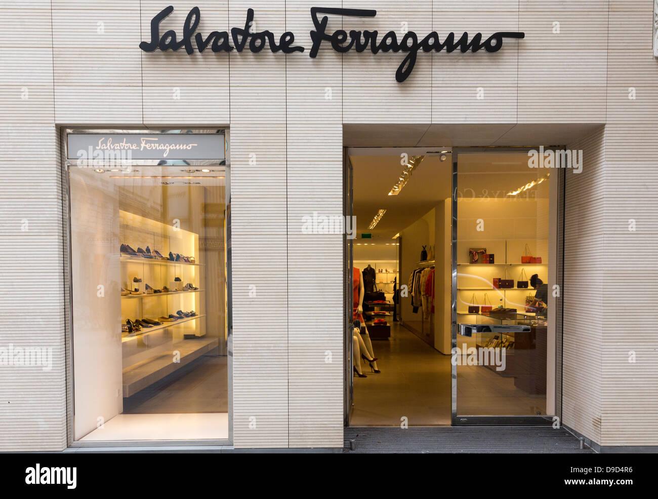 Salvatore Ferragamo shop Kohlmarkt, Vienna, Austria - Stock Image