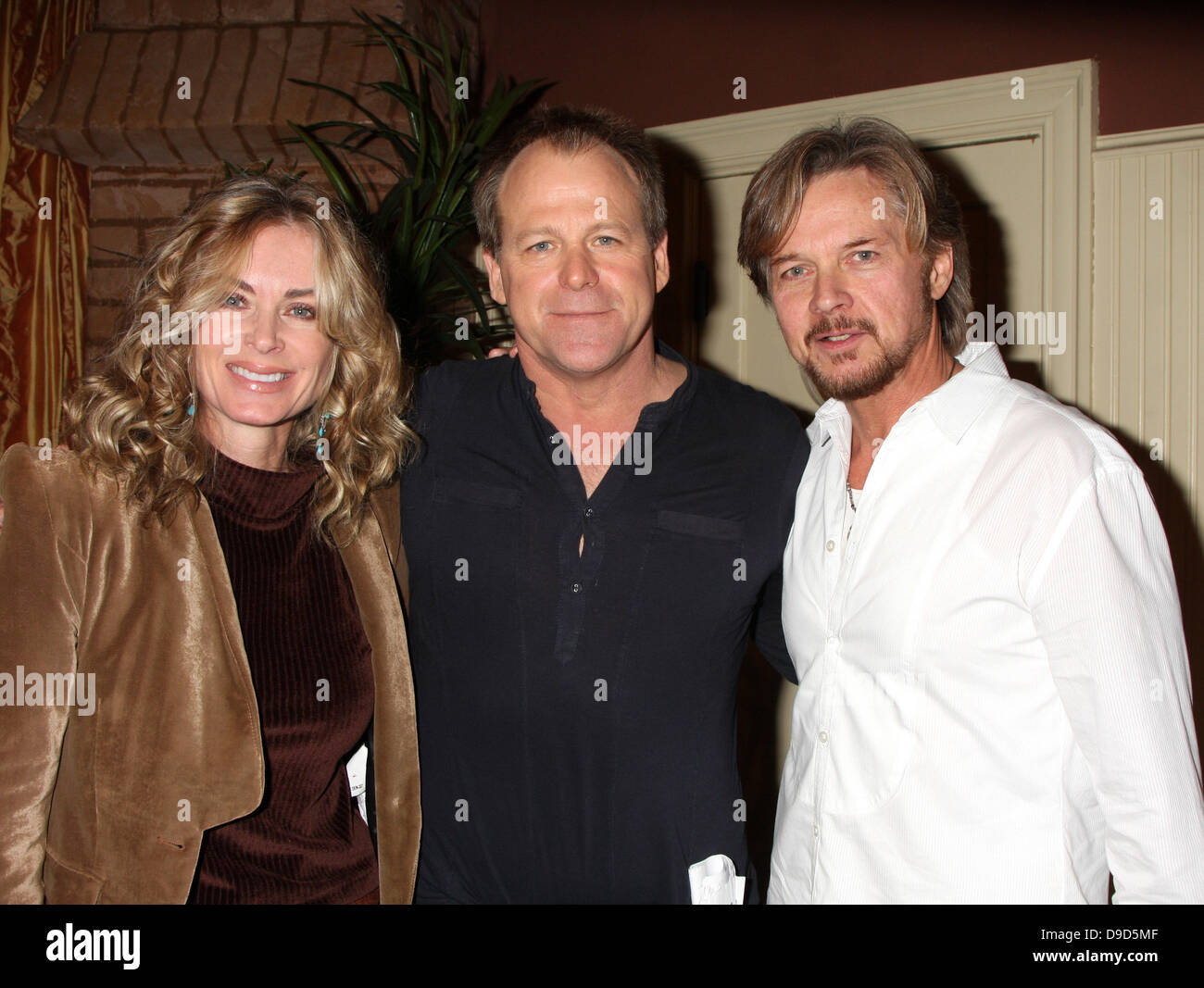 Eileen Davidson Kin Shriner And Stephen Nichols The Young Restless Stock Photo Alamy