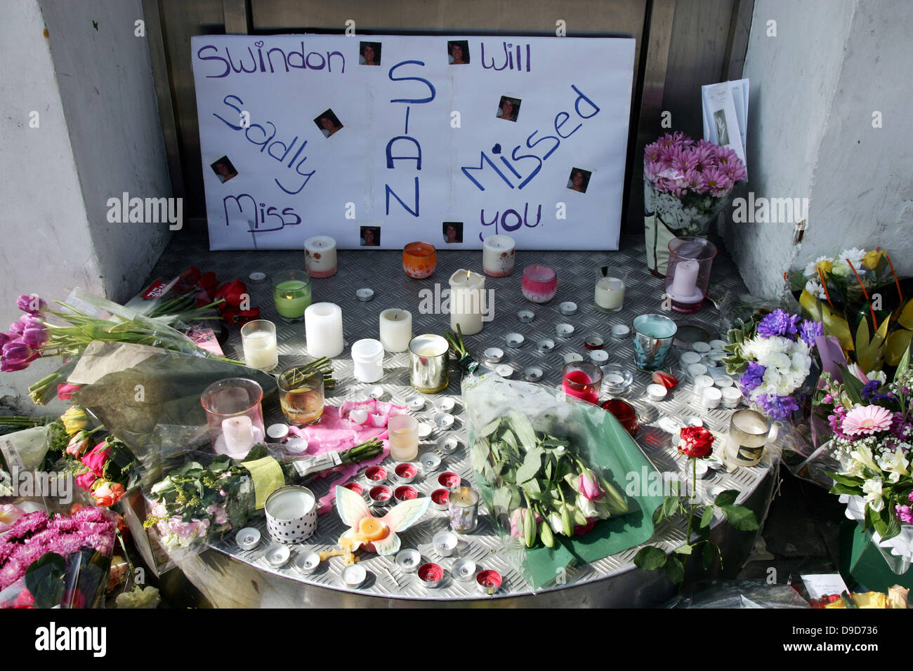 For sian ocallaghan stock photos for sian ocallaghan stock images floral tributes cover the entrance of the suju nightclub in swindon old town wiltshire on izmirmasajfo