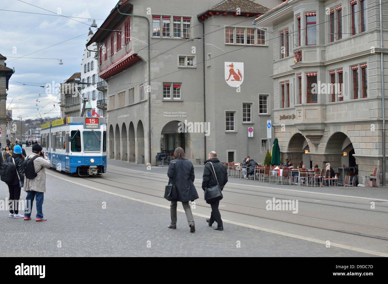 Limmatquai, Zurich, Switzerland. - Stock Image