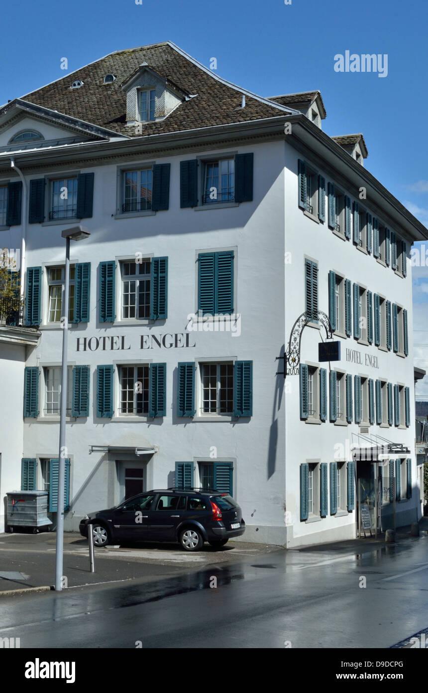 Hotel Engel, Wädenswil, Zürich, Switzerland Stock Photo ...