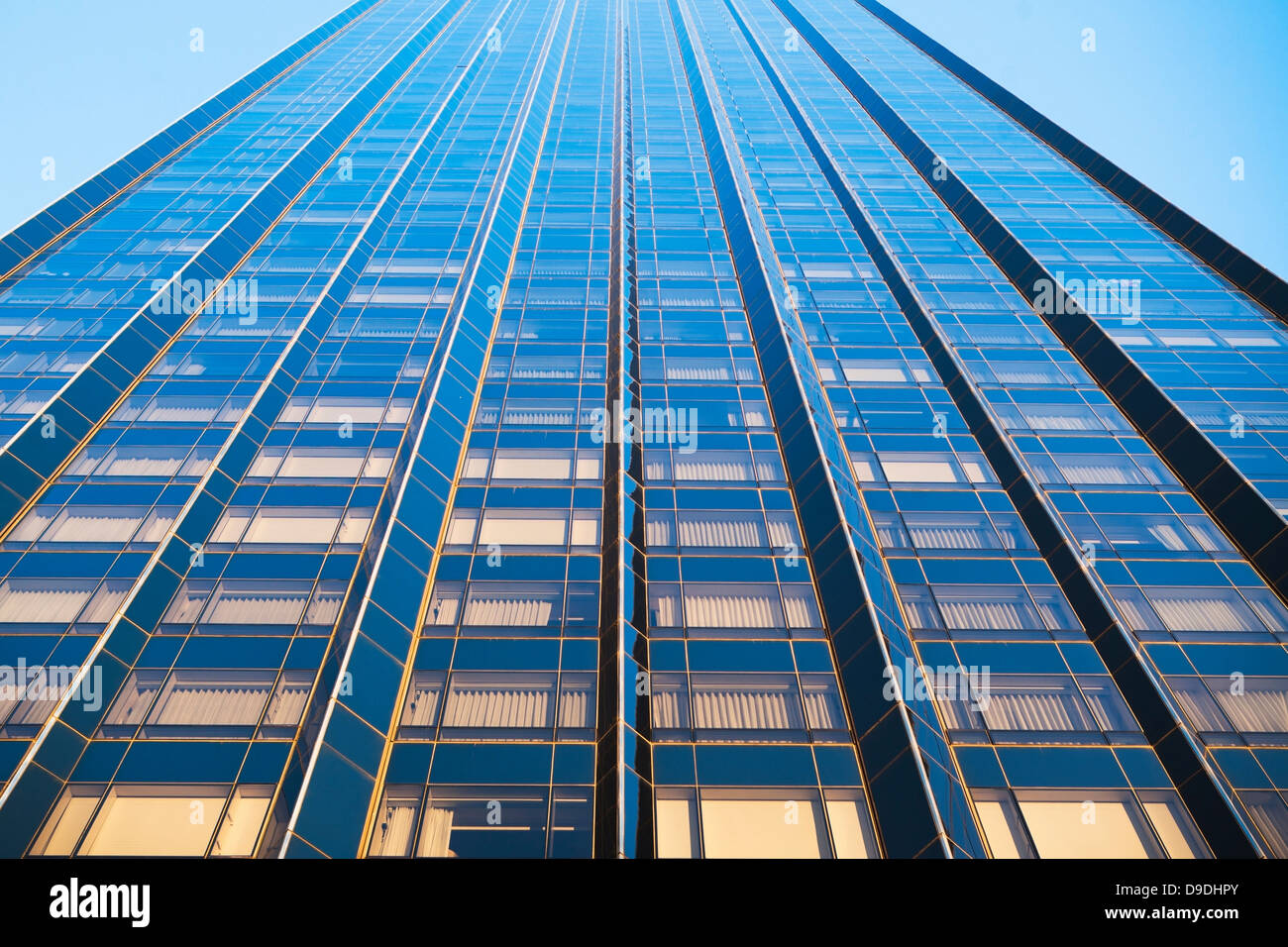 Oblique view of skyscraper, New York City, USA - Stock Image