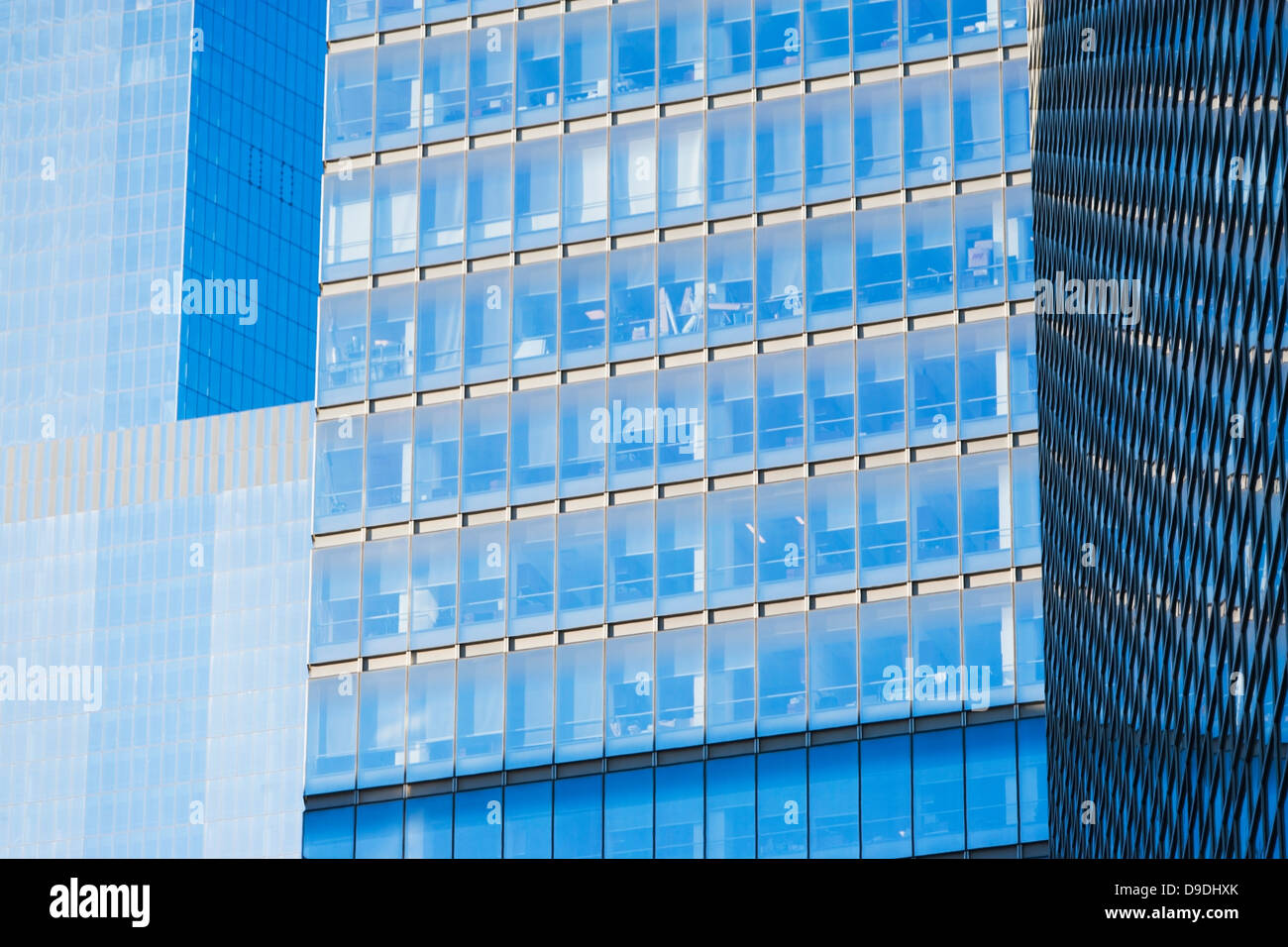 Abstract of office building exteriors - Stock Image