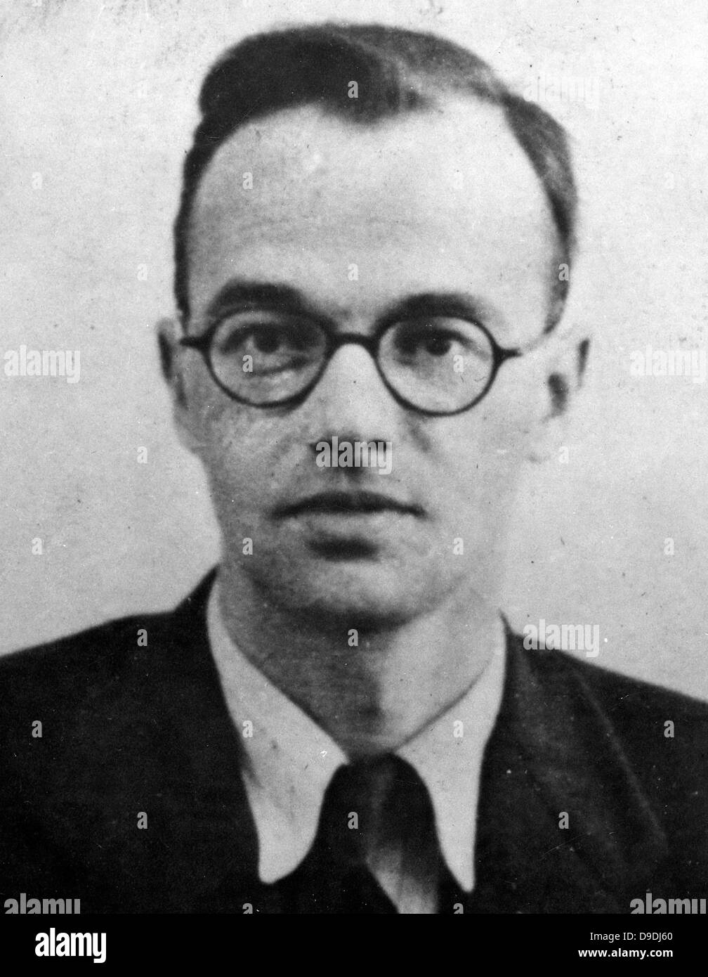 Klaus Fuchs, Emil Julius Klaus Fuchs, German theoretical physicist and atomic spy - Stock Image