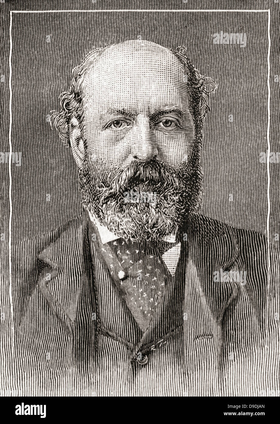 Nathan Mayer Rothschild, 1st Baron Rothschild, Baron de Rothschild, 1840 –1915. British banker and politician. - Stock Image