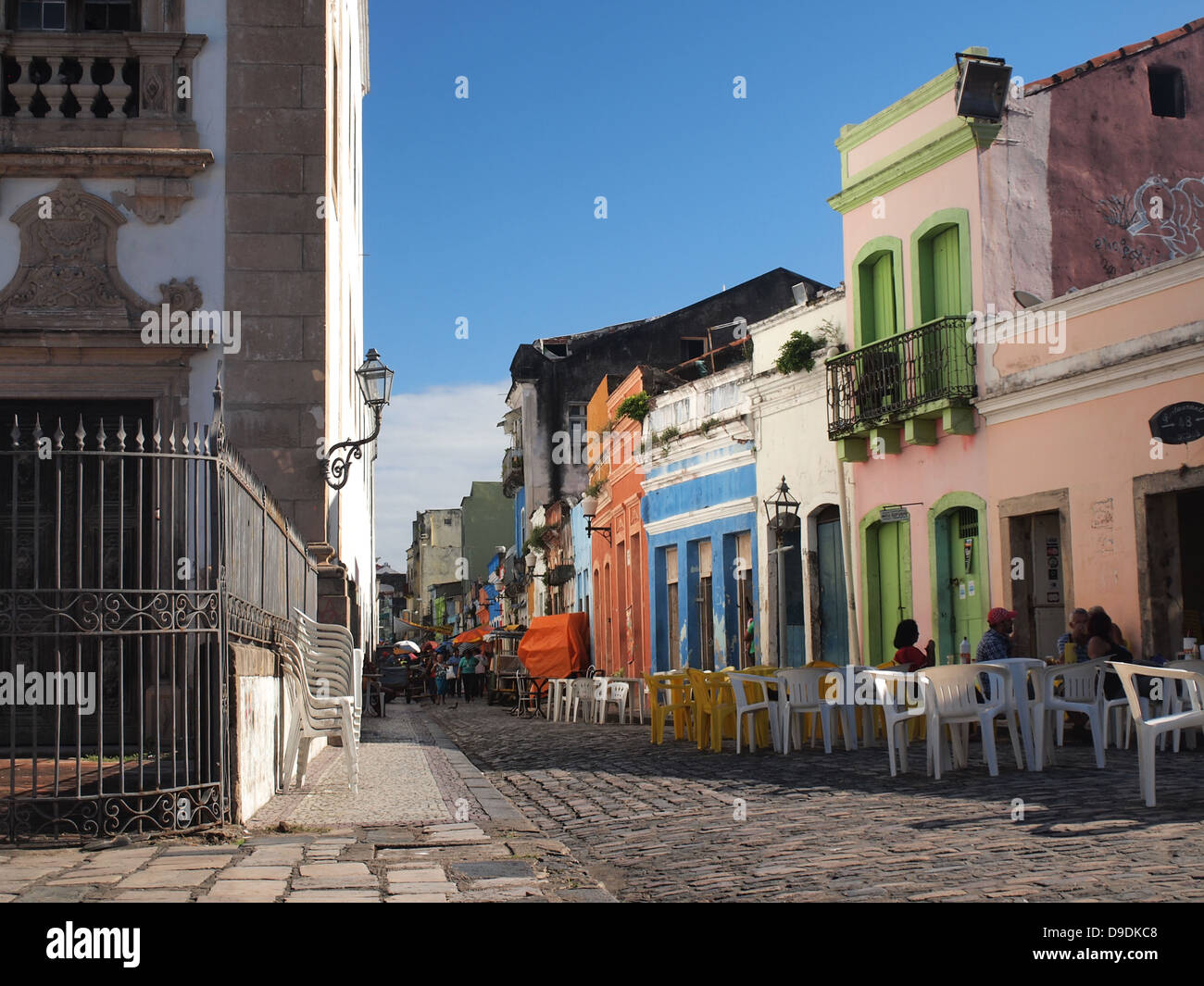 The historical center of Recife, the capital of Pernambuco region in Brazil. - Stock Image