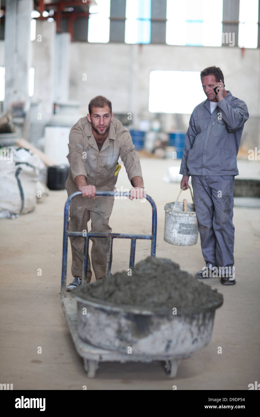 Preparing material for making pottery - Stock Image