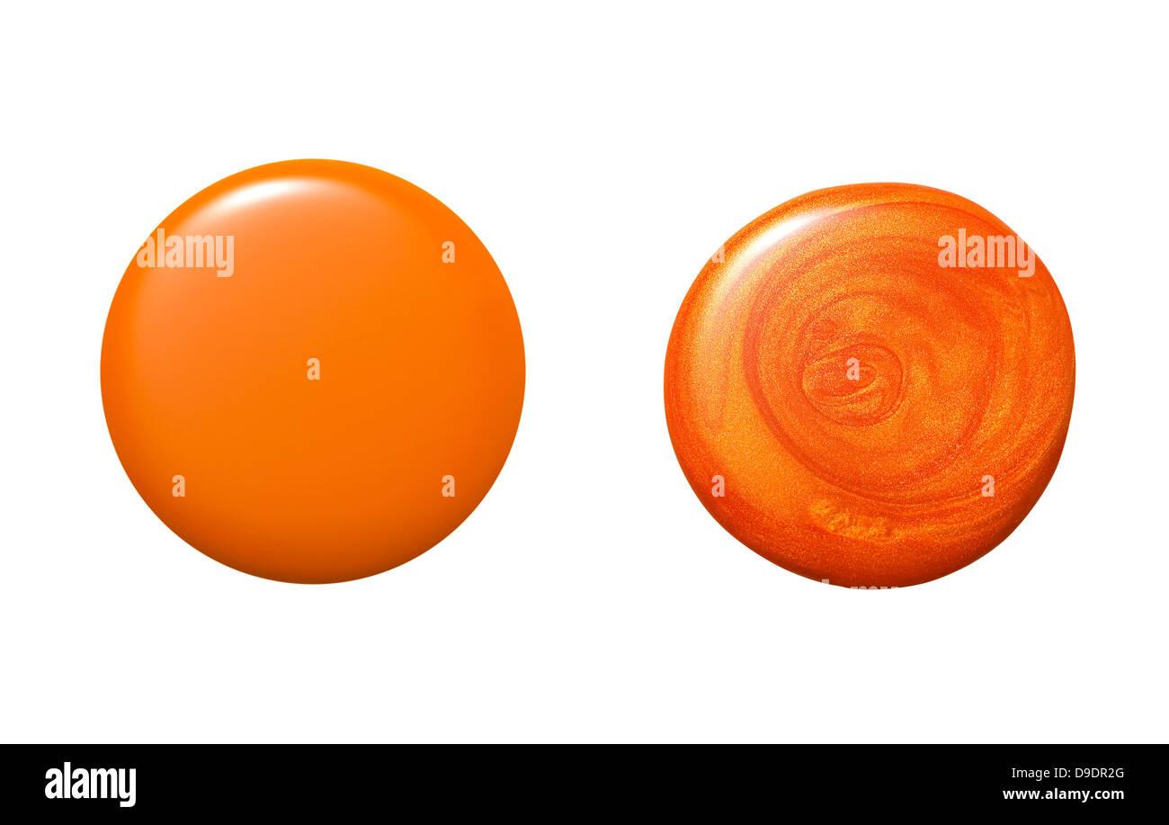 Neon Orange Nail Polish Stock Photos & Neon Orange Nail Polish Stock ...