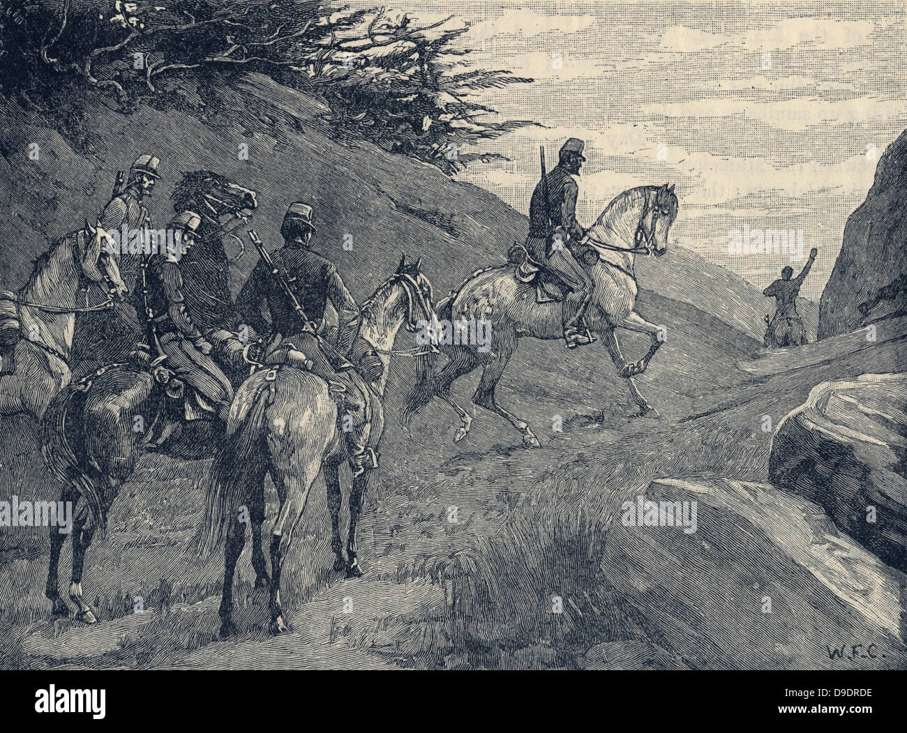 Crimean War 1853-1856:  French cavalry on reconaissance. - Stock Image