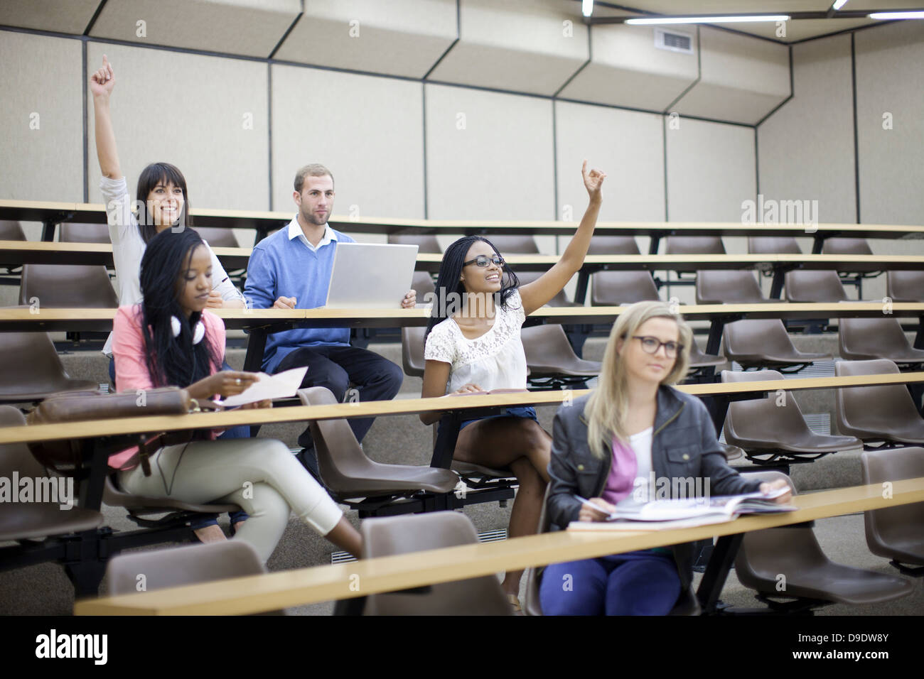 Students in lecture - Stock Image