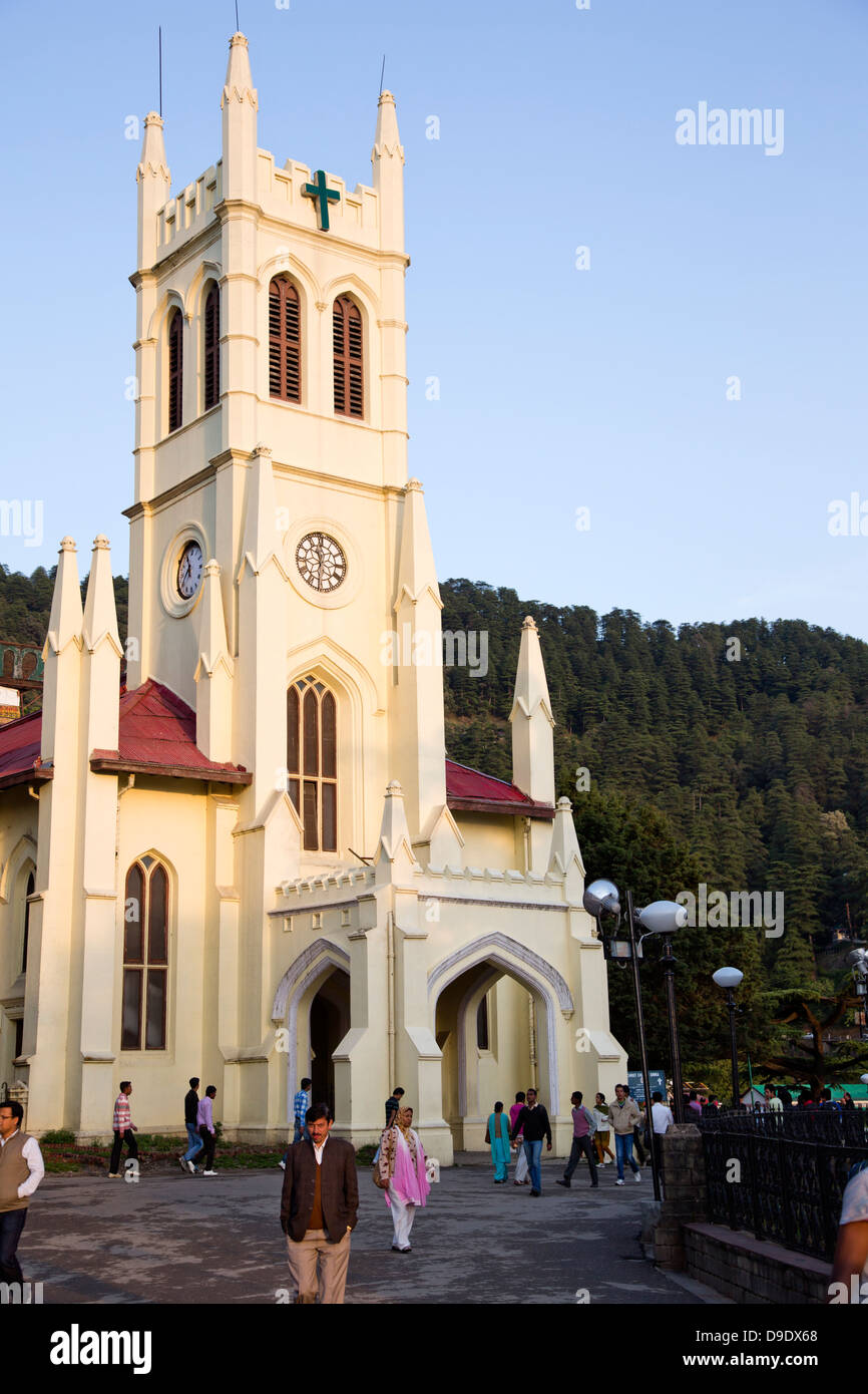 Christ Church of Shimla, Himachal Pradesh, India - Stock Image