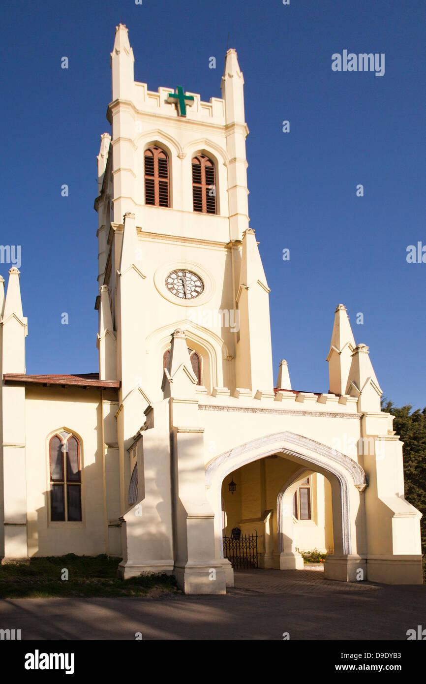 Facade of the Christ Church of Shimla, Himachal Pradesh, India - Stock Image