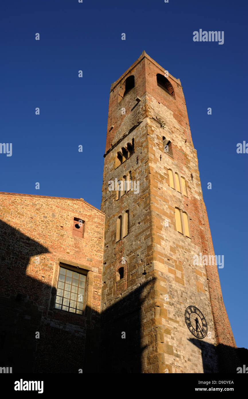 italy, umbria, città della pieve, cathedral and civic tower - Stock Image