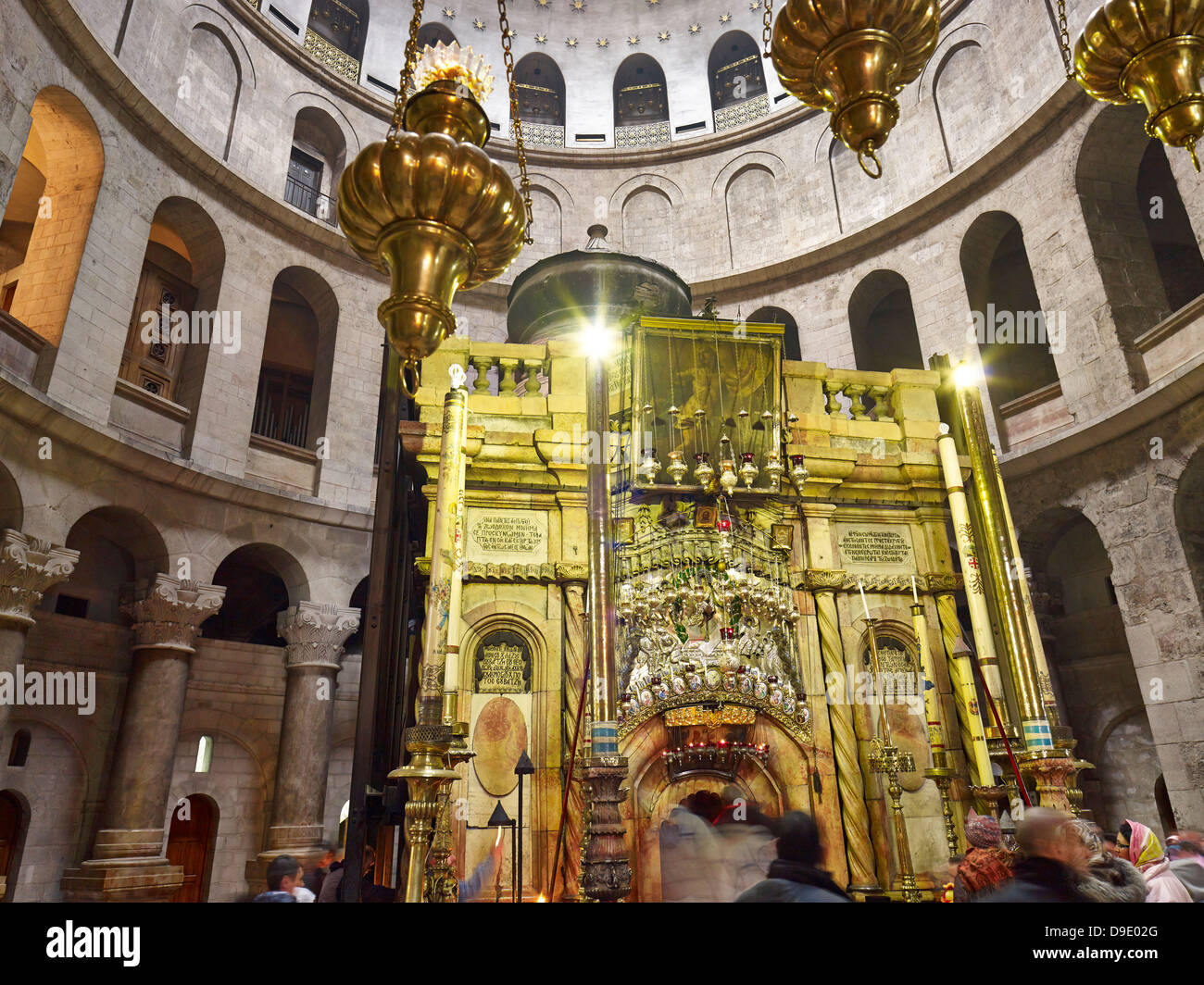 Grave of Christ in the Church of Holy Sepulchre in Jerusalem, Israel - Stock Image